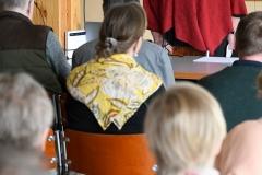 Keskustelutilaisuus vanhuspalveluista Vantaan Puistokulmassa toukokuussa.