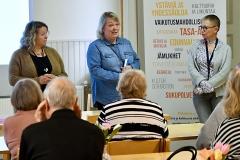 Keskustelutilaisuus Palvelut ja toimeentulo – eläkeläisen perusoikeudet Kokkolassa syyskuussa. Alustajana Eläkeläiset ry:n valtuuston puheenjohtaja Kalevi Kivistö, tilaisuuteen osallistui myös Keski-Pohjanmaan sosiaali- ja terveyspalvelukuntayhtymä Soiten edustajia.