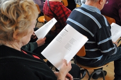 Yhteislaulutilaisuus Viialassa.